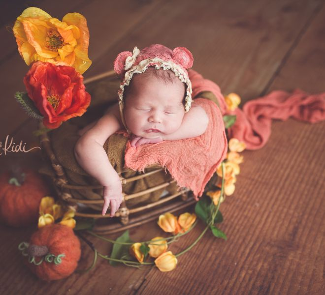 Newborn Floral Orange Yellow