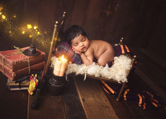 Harry Potter Newborn Baby Sydney Theme Photo Shoot 哈利波特新生儿照写真摄影